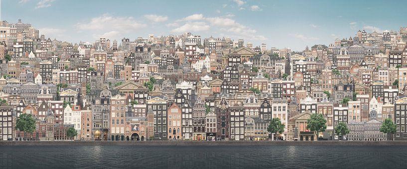 Heuvelachtig Amsterdam. van Olaf Kramer