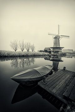 Bootje bij de molen van Halma Fotografie
