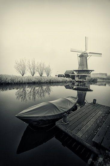 Bootje bij de molen
