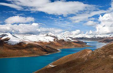 Yamdrok Yutso meer in Tibet von Jan van Reij