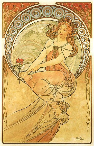 Kunst: Schilderen - Art Nouveau Schilderij Mucha Jugendstil van Alphonse Mucha