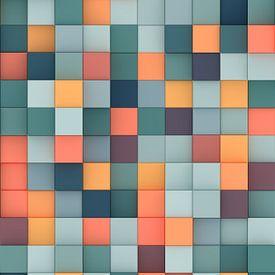 Bunte 3D-Quadrate von Jörg Hausmann