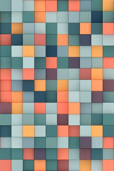 Kleurrijke 3D vierkanten