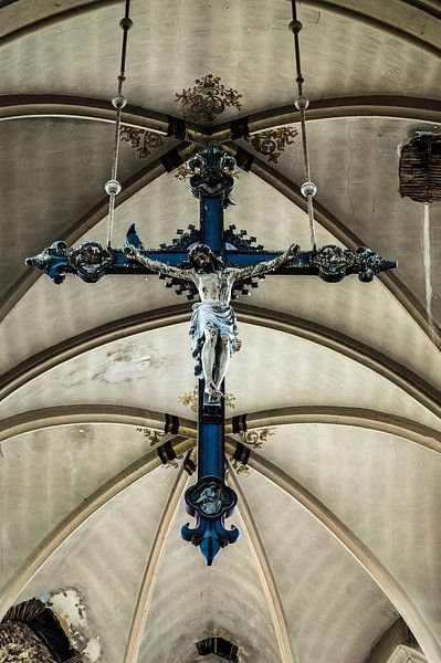 Blue Christ van Anjolie Deguelle