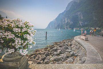 Uitzicht vanaf Riva del Garda aan het Grardameer van Fotografiecor .nl