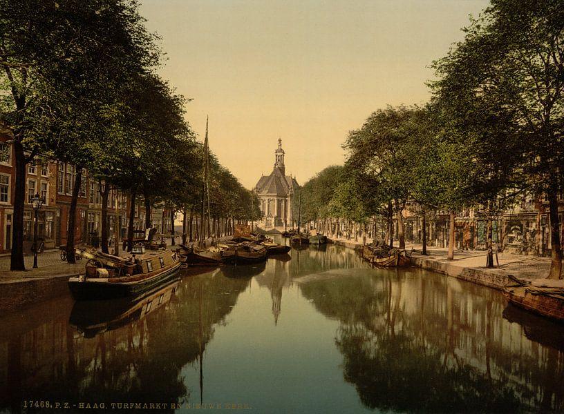 Turfmarkt en Nieuwe Kerk, Den Haag van Vintage Afbeeldingen