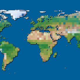 Wereldblokkenkaart van Frans Blok