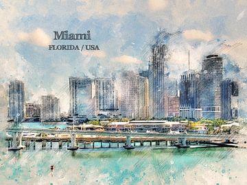 Miami von Printed Artings