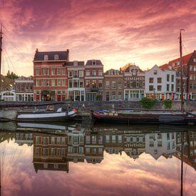 Het schilderachtige Delfshaven Rotterdam na zonsonderganggang van Rob Kints