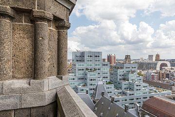 L'Hôtel de Ville, Markthal et le Timmerhuis à Rotterdam sur MS Fotografie | Marc van der Stelt