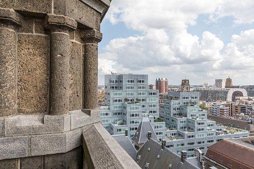 Het Stadhuis, Markthal en het Timmerhuis in Rotterdam van MS Fotografie