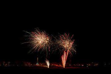 Vuurwerk in Zutphen van Royvs Fotografie