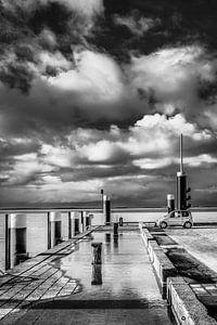 De pier van Holwerd, Friesland.
