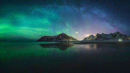 Noorderlicht + melkwegboog von Sven Broeckx