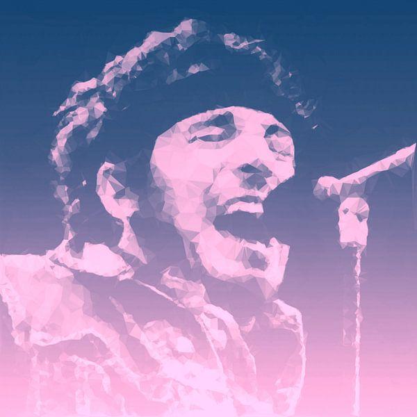 Bruce Springsteen Illustration Pop Art van Felix von Altersheim