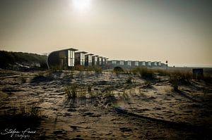 Strandslaaphuisjes Nieuwvliet Bad van Stefan Faas