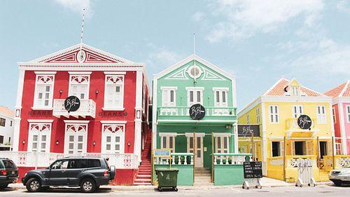 Gekleurde huizen Bij Blauw Pietermaai