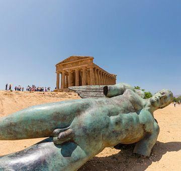 Valle di Templi, Griekse tempels en ruïnes, Agrigento, Sicilia - Sicily, Italië van