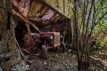 roter Traktor von Linda Lu