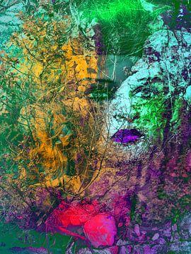 Violet lips von Gabi Hampe