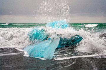 Jökulsárlón Glacier Lagoon / diamond beach, Iceland van