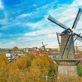 Moulins à peinture Schiedam sur Frans Blok
