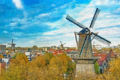 Verschildering molens Schiedam