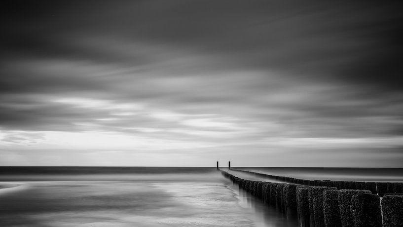 Eindeloos (zwart wit). van Lex Schulte