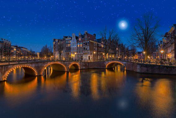 Keizersgracht in Amsterdam onder de sterren