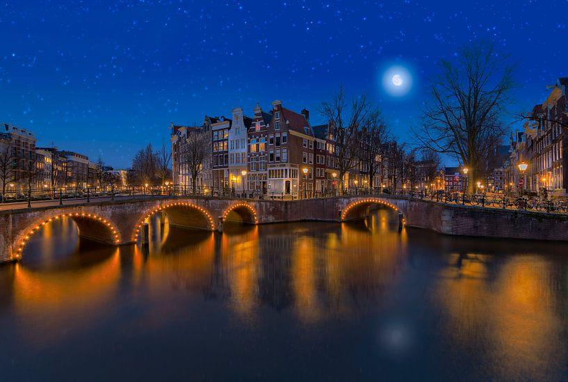Keizersgracht in Amsterdam onder de sterren van Ardi Mulder