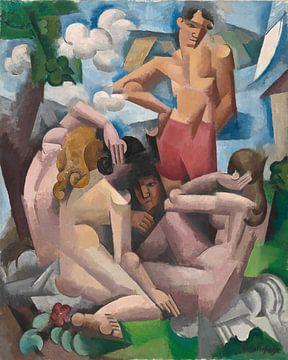 Roger de La Fresnaye, De badgasten, 1912 van Atelier Liesjes