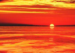 Zonsondergang op de zee