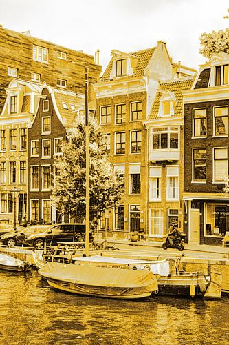 Binnenstad van Amsterdam Nederland Goud