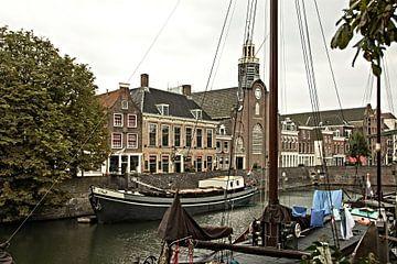 Zicht op Delfshaven, Rotterdam van Adriana Zoon