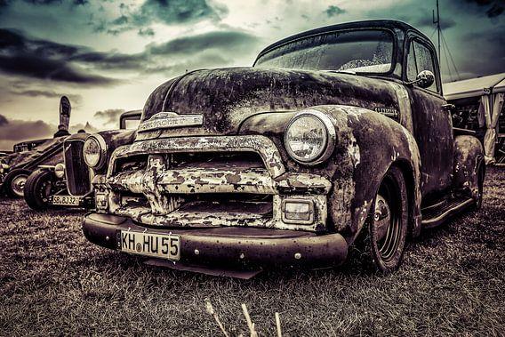 Chevrolet pick-up vintage en roestig