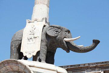 Olifant, oude stad, Catania, Sicilië, Italië van Torsten Krüger