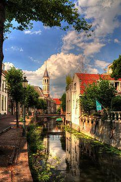 Langegracht en Elleboogkerk historisch Amersfoort van Watze D. de Haan