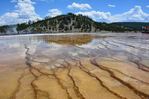 Kleurrijke laagjes Yellowstone National Park Amerika