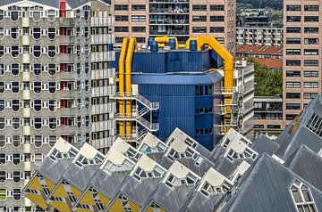 Rotterdam: Kubussen, Potlood en Bieb van Frans Blok