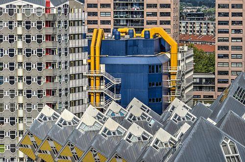 Rotterdam: Bleistift, Würfel und Bibliothek