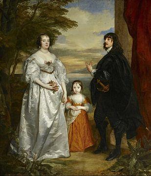 James Stanley mit seiner Frau, Charlotte, und ihrer Tochter, Antoon van Dyck