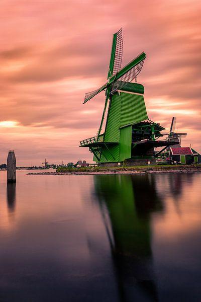 Zaanse Schans the colorful windmill village van Costas Ganasos