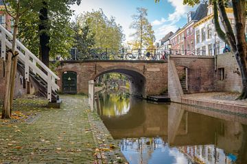 Vue au fond des caves de la Nieuwe Gracht et du chantier naval d'Utrecht sur Robert van Walsem