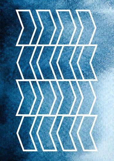 Shoaling in the Ocean | Geometrie en Aquarel