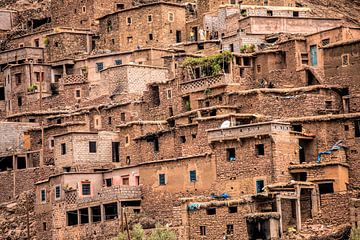 Dorf im Atlasgebirge, Marokko von Wout Kok