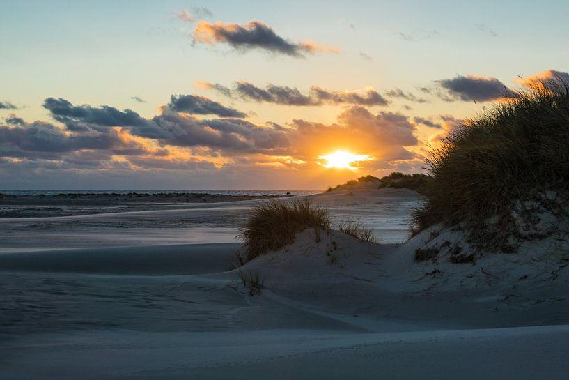 Sunset on the North Sea island Amrum van Rico Ködder