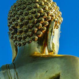 Gouden boeddha, van achteren gezien van Rietje Bulthuis