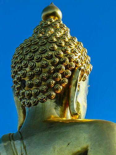 Gouden boeddha, van achteren gezien