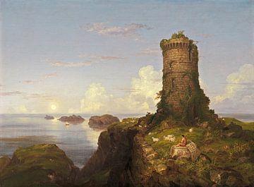 Italienische Küstenszene mit Turmruine, Thomas Cole