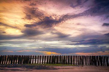 Zonsondergang Opaalkust Wissant Frankrijk III van